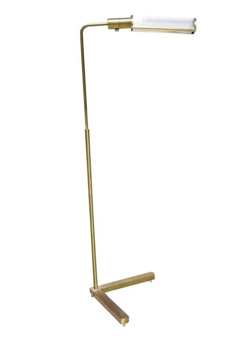 Pharmacy Floor L With Glass Shade brass pharmacy floor l with glass rod shade by casella