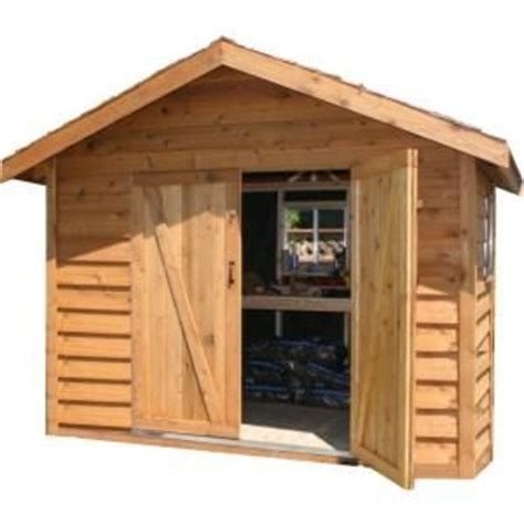8 ft x 12 ft deluxe cedar bevel siding storage shed kit