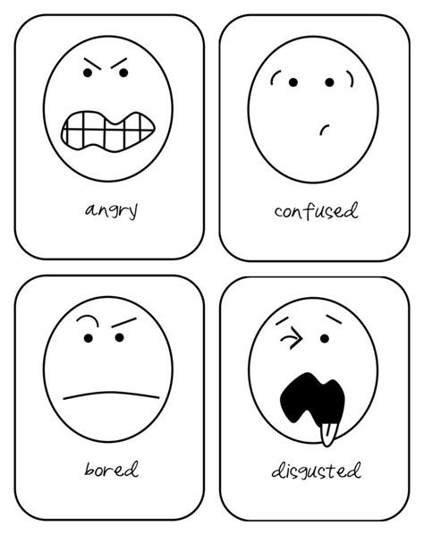 printable emotion flashcards for toddlers emotion flash cards printable for toddlers kiddo ideas