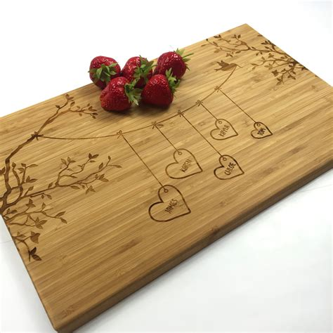 Wedding Gift Cutting Board by Cutting Board Personalized Wedding Gift Blended Family Names