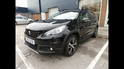 peugeot 2008 black 2016 66 peugeot 2008 1 6 bluehdi 120 gt line 5dr in black