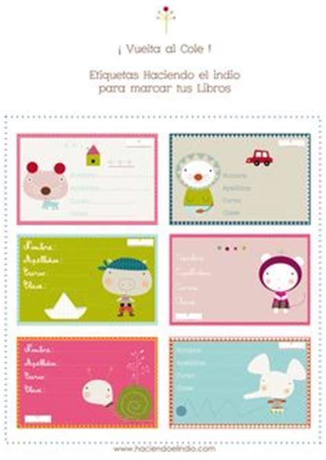 etiquetas para poner nombre a los cuadernos colorear etiquetas infantiles para poner el nombre a los libros