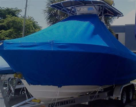 custom boat covers pompano beach services blue water canvas upholstery of pompano beach