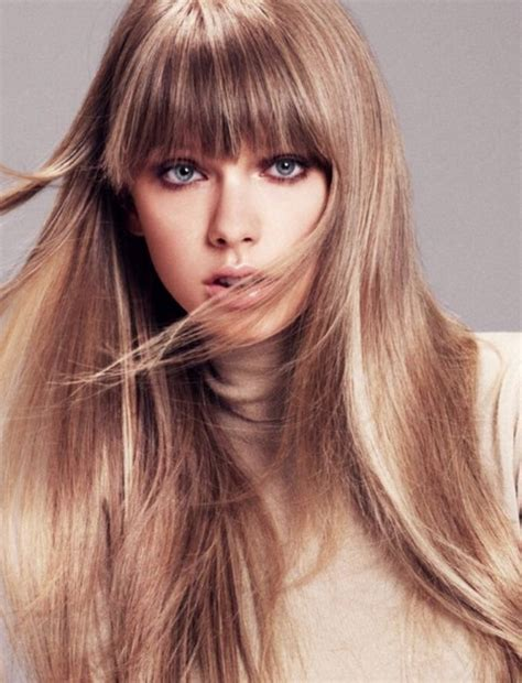 Taylor swift hairstyles smooth straight haircut with bangs pretty