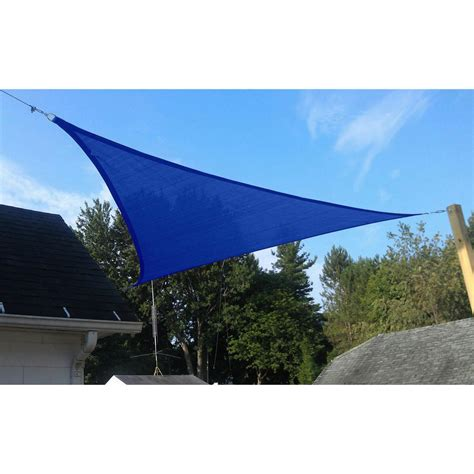 triangle sail sun shade quictent triangle square rectangle sun shade sail 14 size sand blue green ivory ebay
