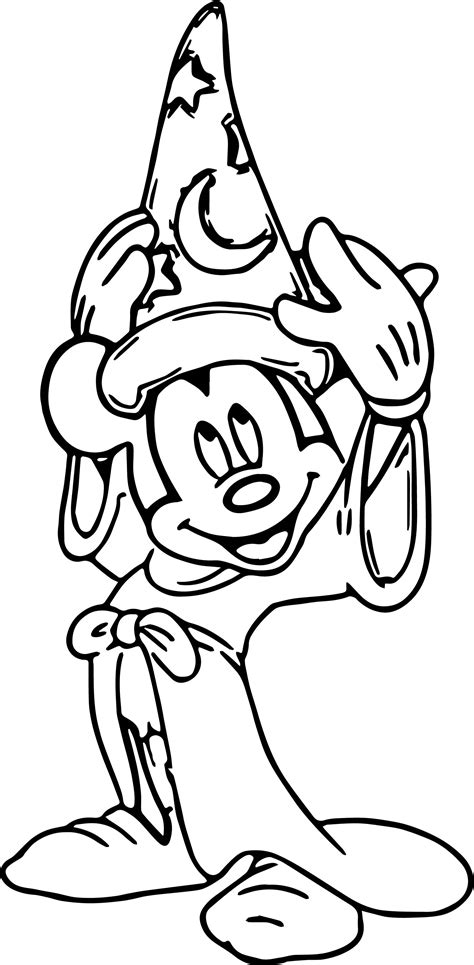 mickey mouse wizard coloring pages magic mickey mouse hat coloring pages wecoloringpage