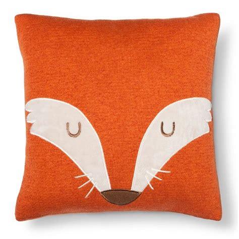 target pillow top fox square throw pillow 14 quot x14 quot orange pillowfort target