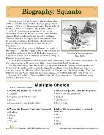biography book list for 5th grade squanto biography free printables boxes and thanksgiving