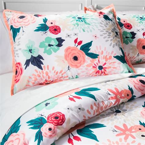 floral bedding target multicolor floral printed comforter set xhilaration target