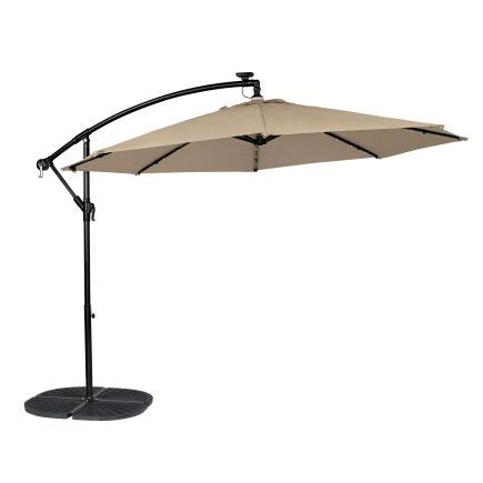 cantilever patio umbrella with led lights living accents 10ft round offset umbrella with solar led