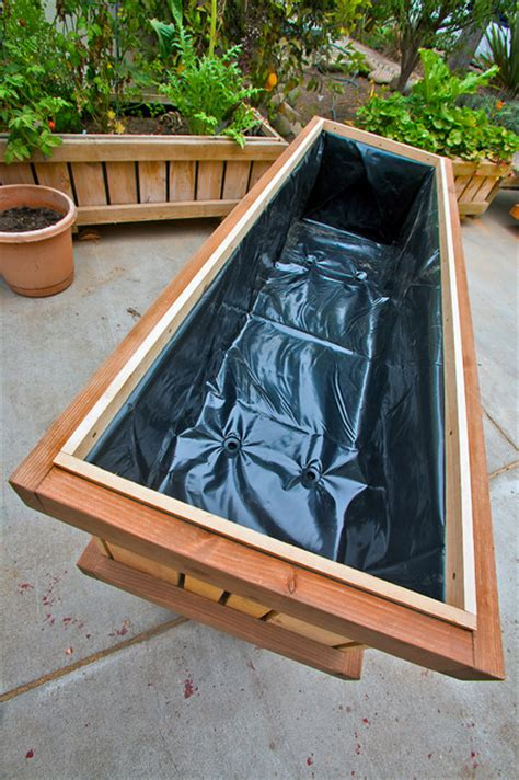Interior Planter Boxes by Pedestal Planters 2x6 X 32 Quot Interior Lining Modern