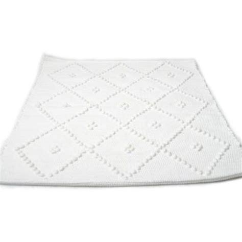 White Bath Mat by Portuguese Woven White Bath Mat