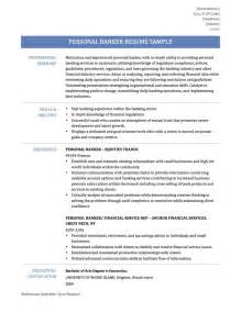 Personal Resume Example Personal Banker Resume Samples Templates Amp Tips