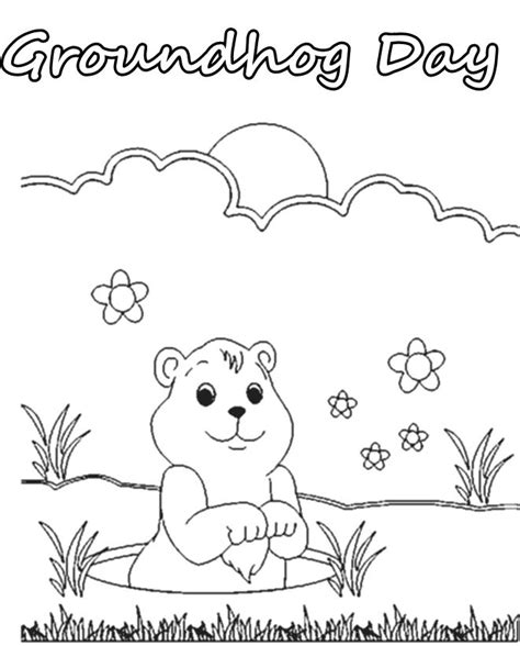 groundhog day coloring pages activities coloring pages