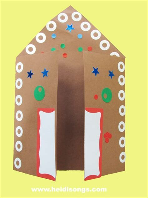 gingerbread house card template heidisongs resource a gingerbread house card a paper