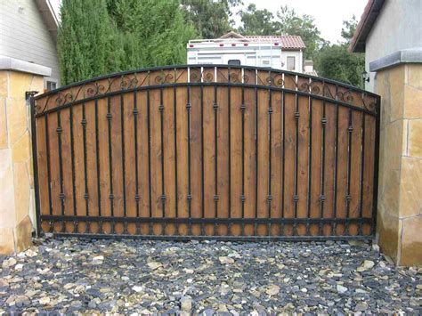 Patio Types Custom Wood Fence Gates Outdoor Decorations