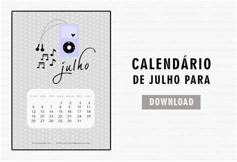 Calendario Julho 2015 Calend 225 Julho 2015 Para Casinha Arrumada