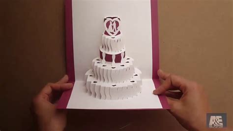 how to make a amazing wedding cake pop up card tutorial