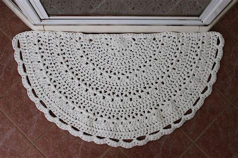 half circle rug crochet inside front doors