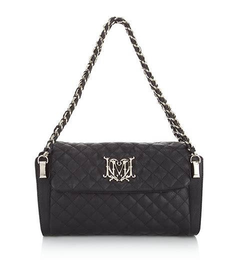 Quilted Bag With Chain by Moschino Medium Quilted Chain Bag In Black Silver