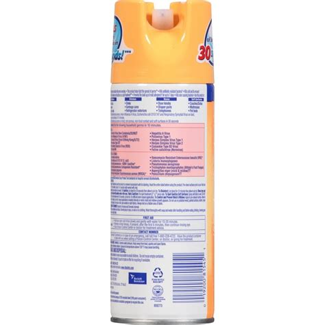 lysol disinfectant spray label
