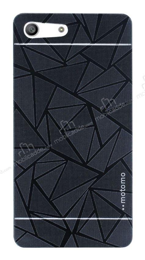 motomo prizma sony xperia m5 metal siyah rubber kılıf