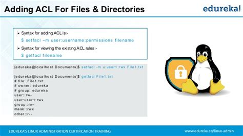 tutorial acl linux linux training for beginners linux administration