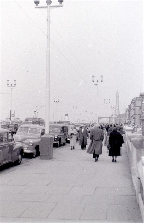Js Blackbol photos of a cold and gloomy blackpool in 1957 flashbak