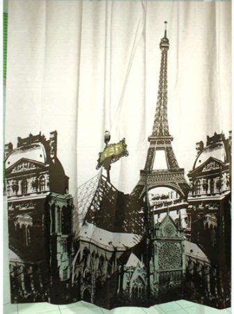 curtains paris theme paris theme shower curtain for the home pinterest