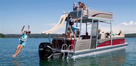 water slide for pontoon boat windjammer funship double decker pontoon boat avalon