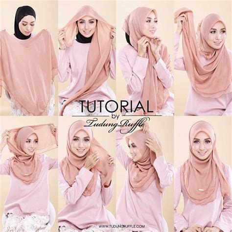 Jilbab Sy by Tutorial By Tudung Ruffle Tutos Sy