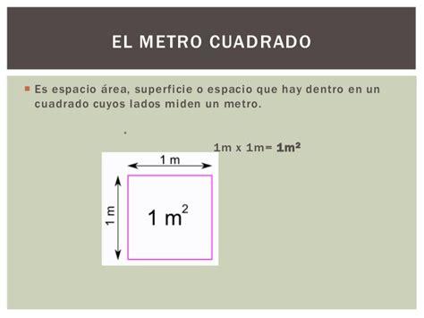 cuanto es un metro cuadrado el metro cuadrado
