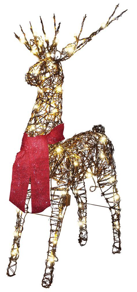 gemmy starry night grapevine reindeer led lights christmas