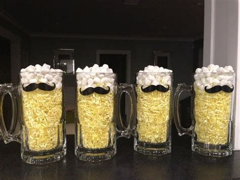 mustache party centerpieces mustache beer mug