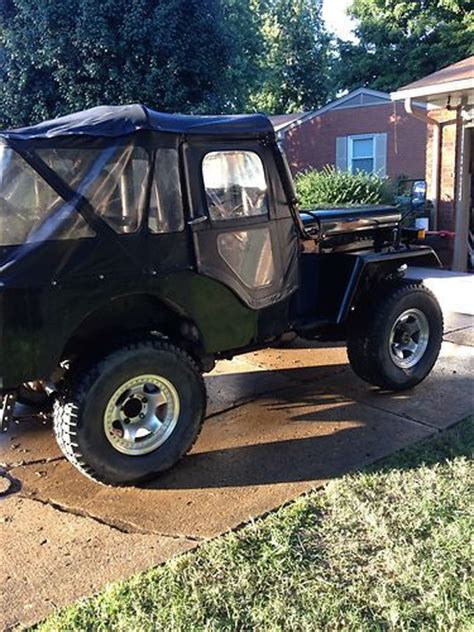 mitsubishi j54 buy used 1980 mitsubishi j54 diesel jeep like cj3b in