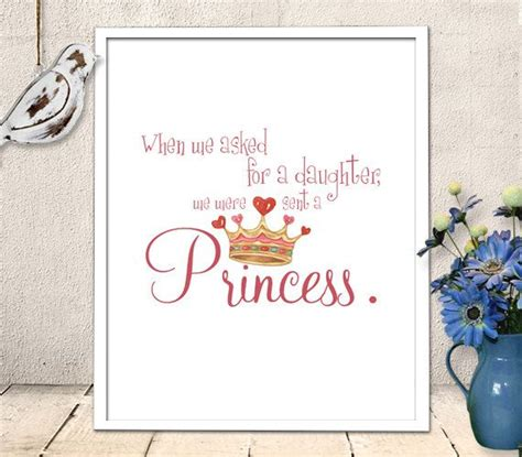 baby nursery quotes wall instant nursery printable baby princess quote wall