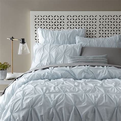 west elm comforter covers organic cotton pintuck duvet cover shams clearwater