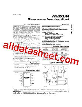 maxim integrated products taiwan max791 데이터시트 pdf maxim integrated products