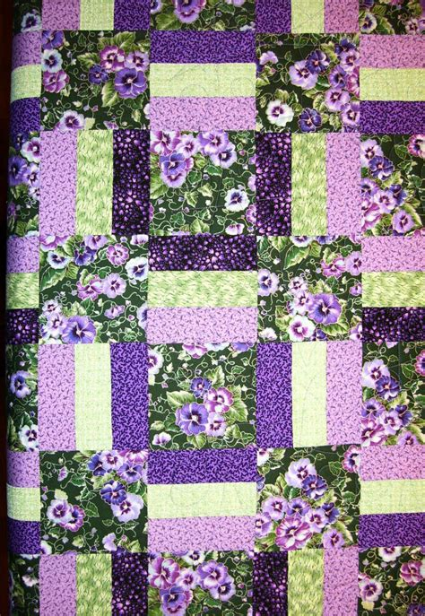 Purple Quilt by Longarm Quilting Finishing Services