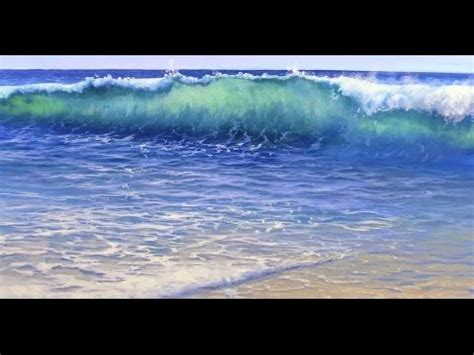 beach wave techniques how to paint an ocean wave with acrylics painting lesson
