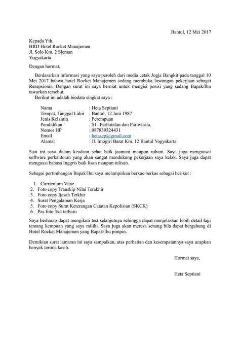 25+ Contoh Surat Lamaran Kerja Yang Baik dan Benar [+Doc