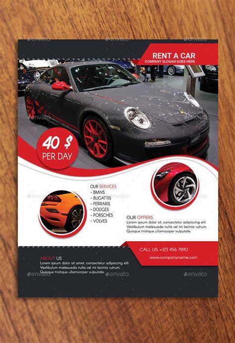 car flyer template rent a car flyer template by rigobro graphicriver