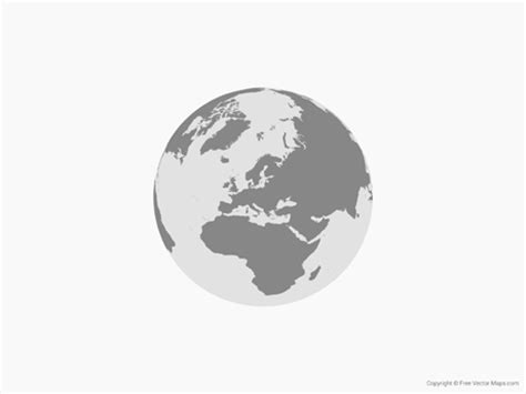 middle east globe map vector vector map of globe of europe single color free vector