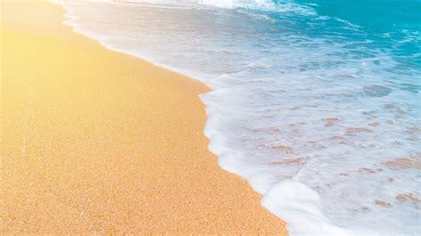 wallpaper sea waves foam beach  uhd  picture