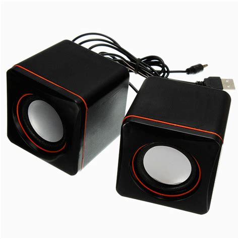 2 0 Mini Channel Multimedia Speaker usb mini square audio 2 channel multimedia speaker black