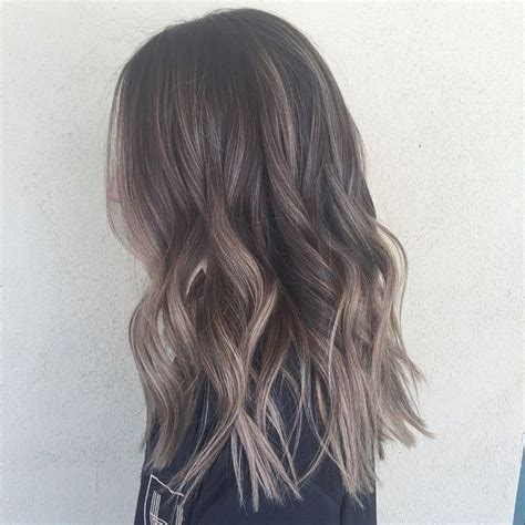 ash brown with grey highlights the 25 best ash balayage ideas on pinterest ashy blonde