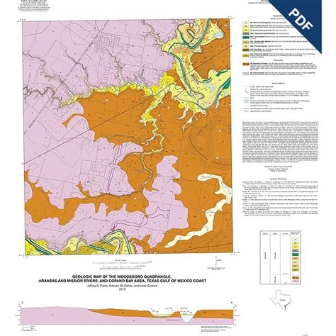 texas geological survey maps ofm0219d woodsboro quadrangle texas downloadable pdf the bureau store