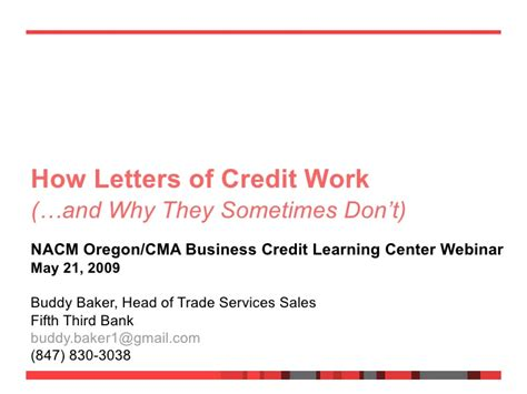 Nacm Credit Letter How Letters Of Credit Work