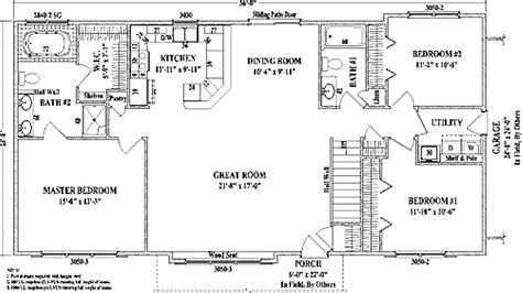 ranch style floor plans open wonderful bedroom ranch house plans open floor r plans