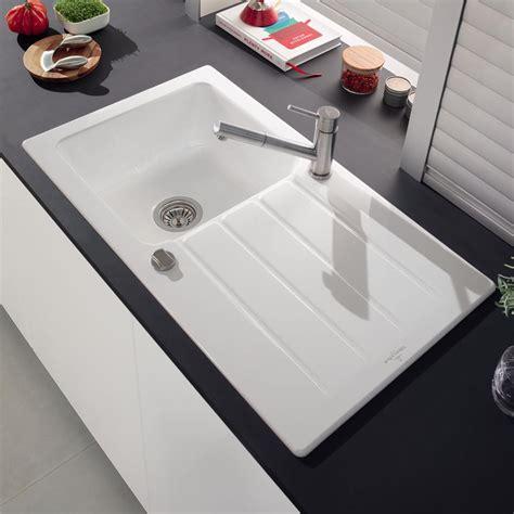 Evier Blanc Ceramique by Evier Villeroy Boch En C 233 Ramique Blanc Architectura 1